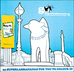 Superlambanana Colouring Book and Crayons