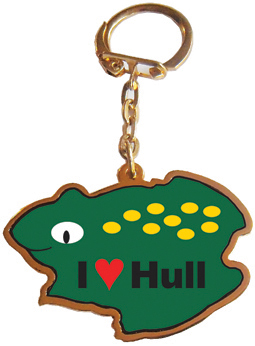 I LOVE HULL TOAD KEYRING