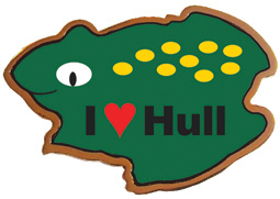 I LOVE HULL TOAD FRIDGE MAGNET