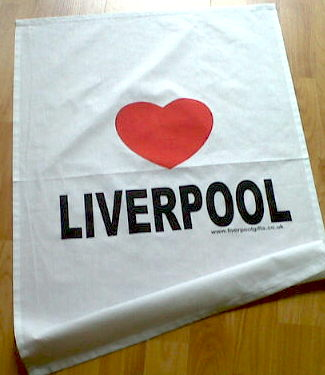 Love Liverpool Tea Towel