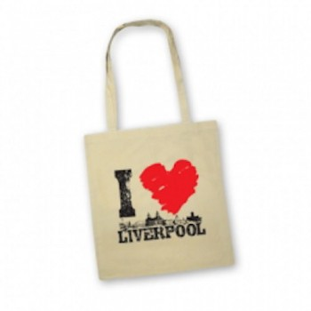 I Love Liverpool Tote Bag