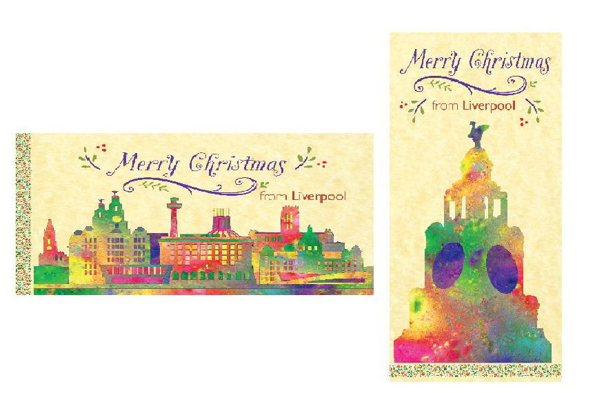 Liverpool and wirral christmas cards liverpool gifts 2018 liverpool 2015 xmas cards x 2 m4hsunfo