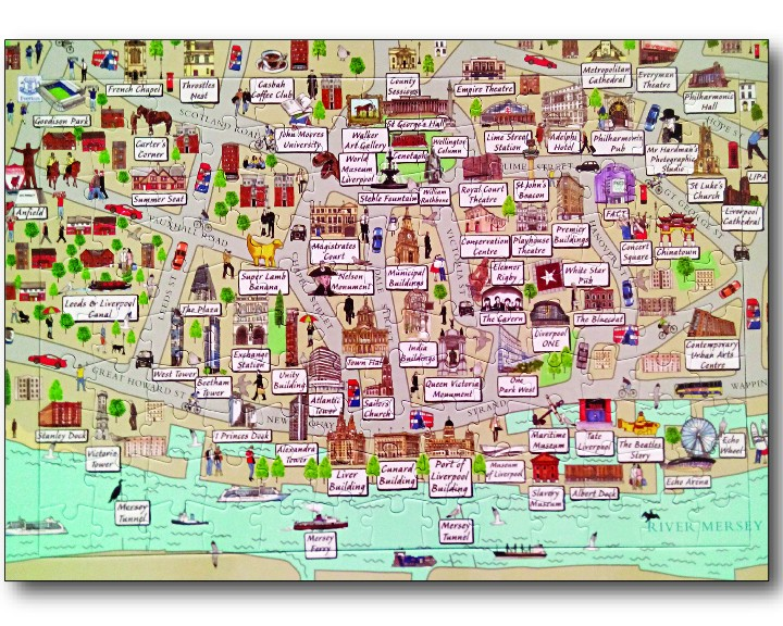 Liverpool City Centre Globee Jigsaw Liverpool gifts 2018