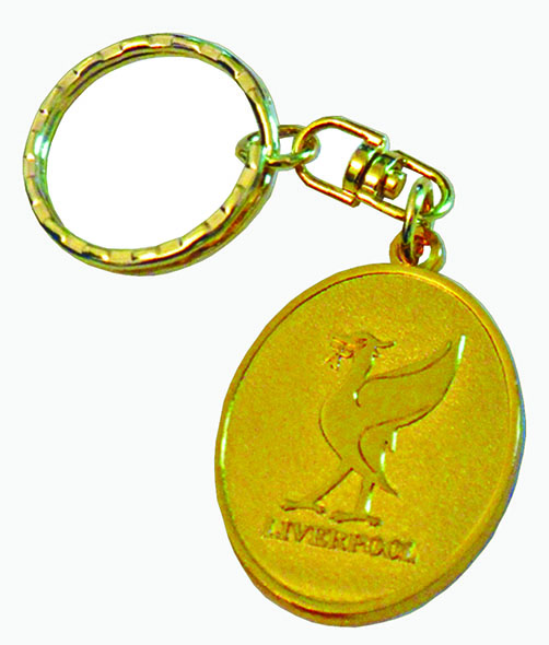 LIVERBIRD GOLD OVAL KEYRING
