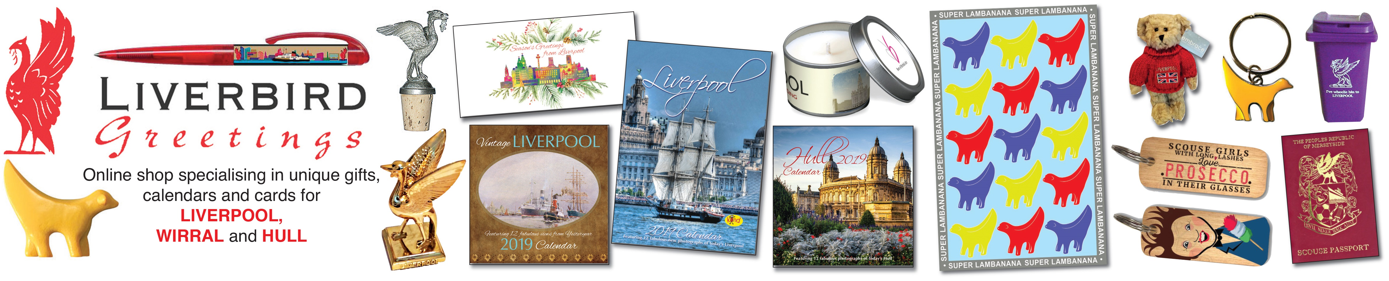 Liverpool gifts, 2018 calendars and cards, Liverpool, Wirral, Hull and Bridge Players