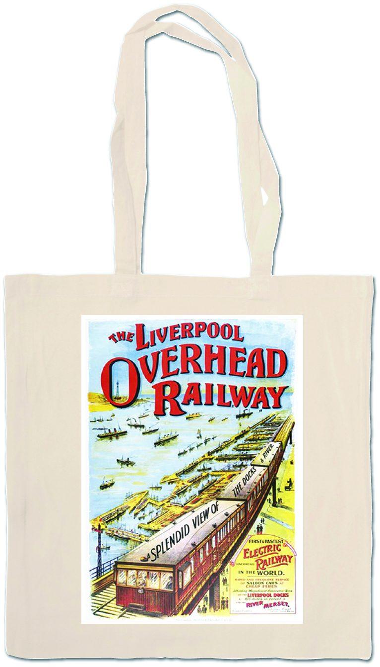 Overhead Railway Tote Bag