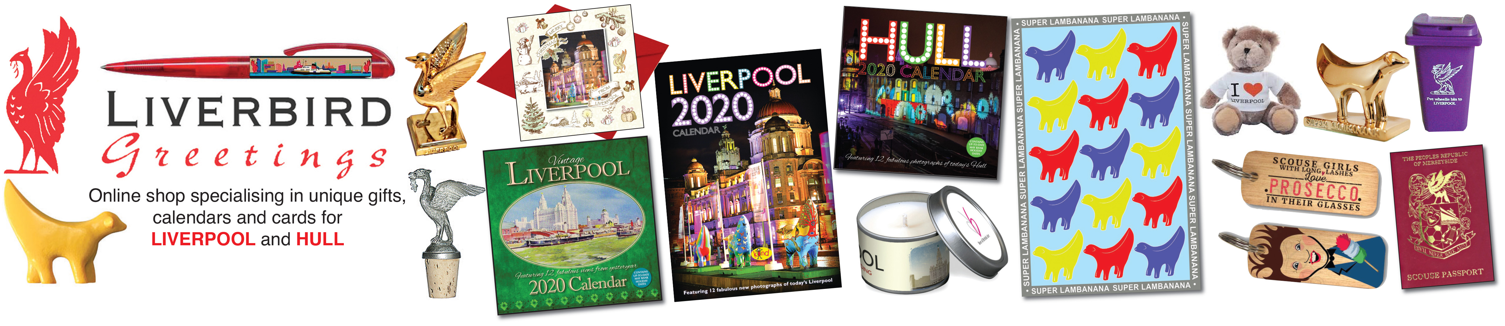 Liverpool gifts, 2020 calendars and cards, Liverpool, Wirral, Hull and Bridge Players