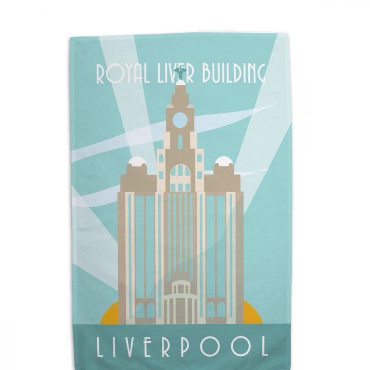Liver Buildings Tea Towel